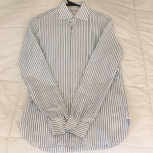 Authentic Isaia Men's Button Down Dress Shirt